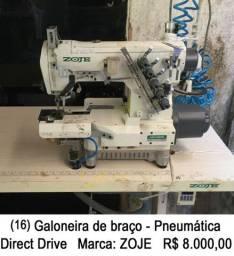 Máquina de costura industrial galoneira de braço pneumática direct drive