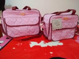 Bolsa maternidade rosa