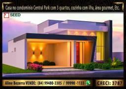 Casa no condomínio Central Park 2, lote com 300m² e casa com 164m², alta qualidade