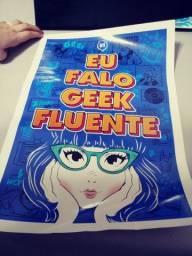 """Poster """" Eu falo Geek fluente Piticas"""""""