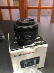 Lente Canon 50mm novíssima