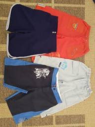 Bermudas, crianças, variadas, lote, infantil, roupas, lote