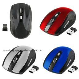 Mouse Wireless Sem Fio 2.4ghz Usb Alcance 10m Notebook E Pc