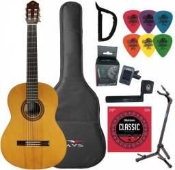 Violão Yamaha Acústico Nylon C45 Clássico Natural + Kit - Produto Novo - Loja Física