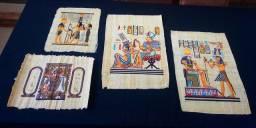 Coleção de papiros egípcios originais pintados à mão