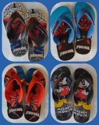 Sandálias novas estampas variadas