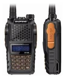 Kit 2 Radio Ht Dual Band(uhf+vhf)  Baofeng Uv-6r + Fone