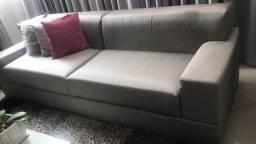 Sofá de seda prata