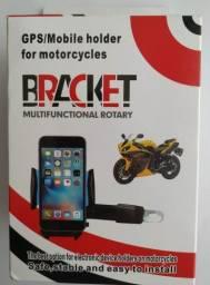 Suporte smartphones celular prende retrovisor moto bicicleta