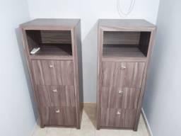 2 armários arquivos de pastas