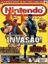 Revistas de vídeo games antigas anos 90 impecaveis  aceito cartão