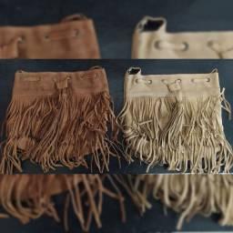 Bolsas lindas de couro legítimo
