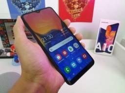 Vendo ou Troco Galaxy A10S Azul 3 meses de uso com nota