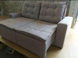 Título do anúncio: Sofá em tecido SUED com almofadas de flocos - pronta entrega