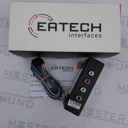 Conversor RCA Eatech. Com 4 canais e sem bass. Novo. Instalado.