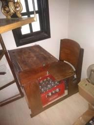 Carteira escolar antiga original madeira