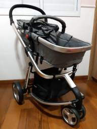 Carrinho Moby System + Bebê Conforto + Base Safety 1st + Acessórios