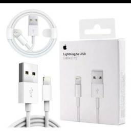 IMPERDÍVEL Cabo Lightning Usb Carregador iPhone 5 6 7 Plus S X Xr Xs branco apenas o cabo