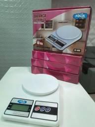 Balança Digital 10kg P/ Cozinha Alimentação Saudável Premium *Pilha grátis*