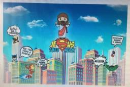 Painel De Festa Jesus Nosso Heroi -200x150cm