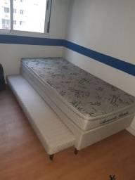 Cama box meio casal com cama auxiliar (bicama)