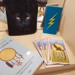 Tarô - Lit de Cartas Xamanicas livro em portugues + Bolsa para Guardar