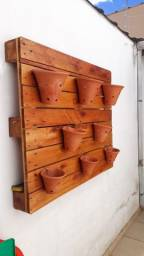 Conjunto de vasos de flor de barro