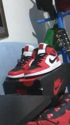 air jordan 1 mid black toe tamanho 39 40