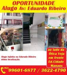 Oportunidade, Alugo lojinha na Edurado Ribeiro ótima localização.