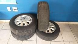 Roda original monza aro 13 c/ pneus