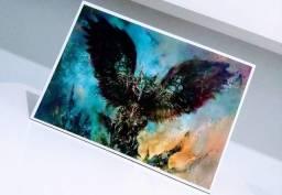 Placa Decorativa em MDF Magic:The Gathering / Baleful Strix