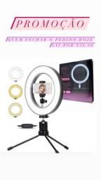 Ring light , tripé e espelho de led