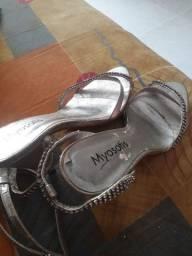 Sandalia de salto alto da myosotis