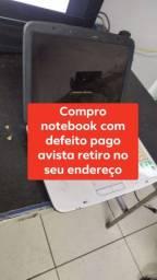 Notebook com defeito