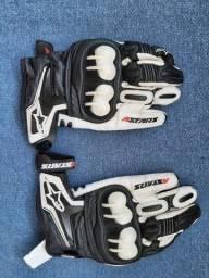 Luvas Alpinestars de Motociclismo em couro natural tamanho G