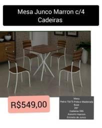 mesa junco marrom c 4 cadeiras mesa junco marrom c 4 cadeiras