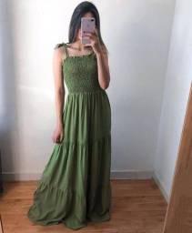 Vestido lastex longo