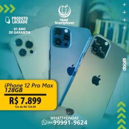 IPHONE 12 PRO MAX ( TODAS AS CORES ) - 128GB ( GARANTIA/ 12 MESES/ ANATEL )
