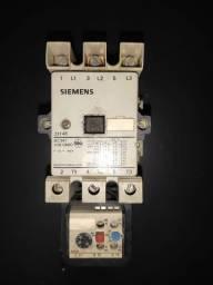 Contator Siemens 3tf46 220V 20HP + relé de sobrecarga 3UA58 50 A