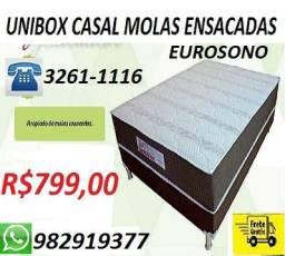 Receba No Mesmo dia Cama Box Molas Ensacadas Eurosono Nova Apenas 799,00