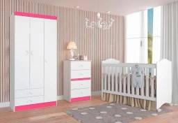 Preço Muito Bom!!Kit Quarto Completo para seu Bebê(Roupeiro+Comoda+Berço)989,00