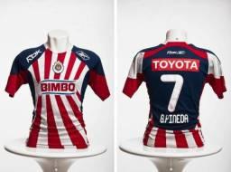 Camisa de Futebol - Chivas Guadalajara - Autografada - M c28a3efb852b9