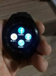 Smartwatch Y1 c/ Bluetooth e Touchscreen + Bateria extra
