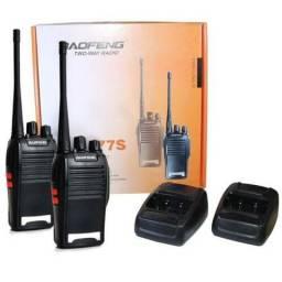 Par Radio Comunicador Walk Talk Baofeng Bf-777s + Fone com Garantia