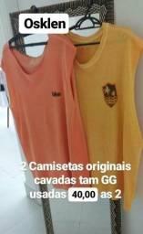 25ccedfa49 2 camisetas marca Osklen tam GG cavadas originais as 2 por 40