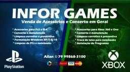 Conserto e Manutenção em Games