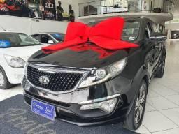 Kia Sportage EX2 2.0 Aut 2015, Teto Solar, Couro, Mutimidia, Revisada Concessionária, NOVA