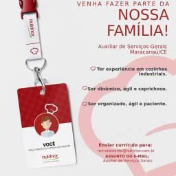 Auxiliar de serviços Gerais que residam em: Eusebio, Maracanau e Fortaleza