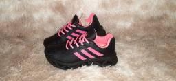 Tênis Adidas rosa preto n° 34 35 36 37 38 39