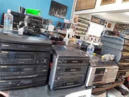 Toca discos,tvs,toca cd eletrônicos antigos vintage